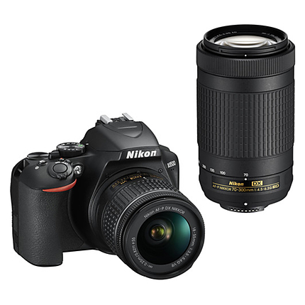 Nikon D3500 DSLR Camera with 18-55mm and 70-300mm Lenses Kit