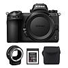 Nikon Z6 Mirrorless Digital Camera with FTZ Mount Adapter Kit