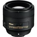 Nikon AF-S Nikkor 85mm f/1.8G Medium Telephoto Portrait Lens - Black
