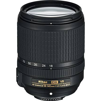 Nikon AF-S DX Nikkor 18-140mm f/3.5-5.6G ED VR Telephoto Zoom Lens - Black