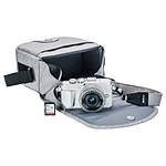 Olympus E-PL9 Pearl White Body with Silver 14-42mm Lens, Case, Strap,SD Card
