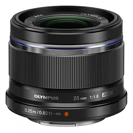 Olympus M.Zuiko 25mm f/1.8 Standard Lens for Micro 4/3 System - Black
