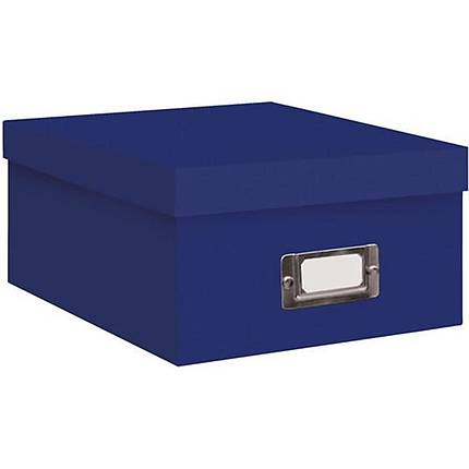 Pioneer Photo Albums 4x7 Photo Storage Box - Royal Blue