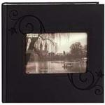 Pioneer 4 x 6 In. Embossed Leather Frame Photo Album (200 Photos)-Black