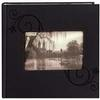 Pioneer 4 x 6 In. Embossed Leather Frame Photo Album (200 Photos)-Black