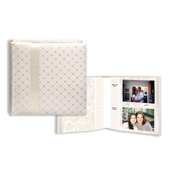 pioneer 4 x 6 in wedding ribbon photo album w diamond accents 200 - 4x6 Photo Albums
