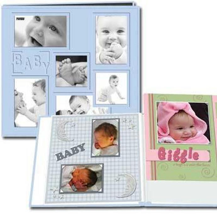 Pioneer Collage Frame Embossed Leatherette Baby Scrapbook (12x12 ...