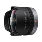Panasonic Lumix G 8mm f/3.5 Fisheye Lens for DMC-GX7, DMC-GM5 - Black
