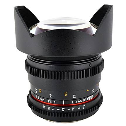 Rokinon 14mm T3.1 Cine Super Wide Angle Lens for Sony A-Mount - Black