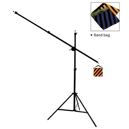 RPS 6ft Black Boom Stand With Boom Arm And Sand Bag Counter Weight