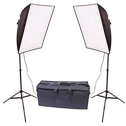 RPS Dual 20x20 Inch Square Folding Softbox Kit W/2-70Watt Flourescent Lamps