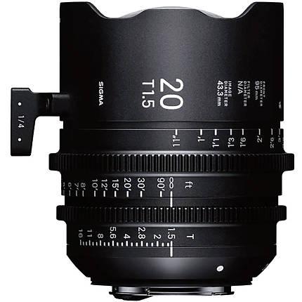 Sigma 20mm T1.5 FF High-Speed Prime Lens (PL, Metric)