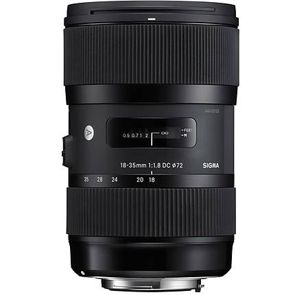 Sigma DC HSM ART 18-35mm f/1.8 Standard Zoom Lens for Nikon Mount - Black