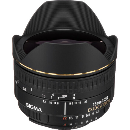 Sigma EX DG Diagonal 15mm f/2.8 Fisheye Lens for Nikon Mount - Black