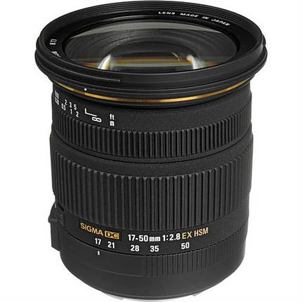 Sigma EX DC (OS) HSM 17-50mm f/2.8 Standard Zoom Lens for Canon - Black