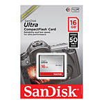 SanDisk Ultra CompactFlash 16GB up to 50 MB/s Read Write is lower