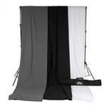 Savage Accent Muslin Background Kit 10x12 - White/Black/Gray