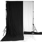 Savage Accent Muslin Background Kit 10x24 - White/Black