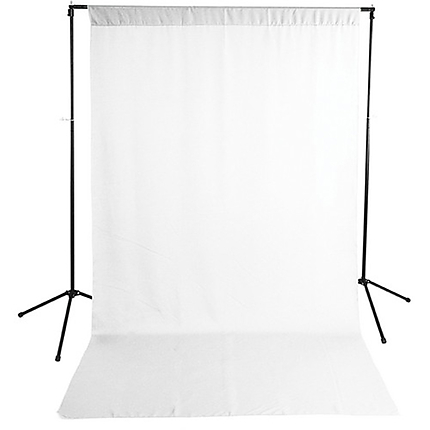 Savage White Solid Muslin Backdrop with Background Support Stand