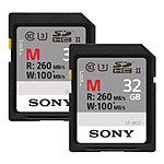 Sony 32GB M Series UHS-II U3 SDHC Class 10 Memory Card (2 Pack)