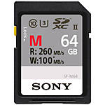 Sony 64GB M Series UHS-II SDXC Class 10 Memory Card (U3)