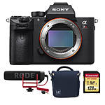 Sony Alpha a7R III Mirrorless Digital Camera w/ Bag, SD Card,  and  Microphone