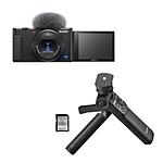 Sony ZV-1 Digital Camera with Vlogger Accessory Kit (Black)