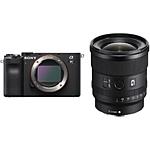 Sony Alpha a7C Mirrorless Digital Camera Body (Black) with 20mm f/1.8 G Lens