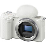 Sony ZV-E10 Mirrorless Camera (Body Only, White)