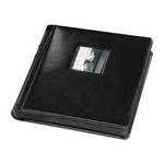 Tap 10 x 10 In. Bella Window Album Black with Black Pages (12 Pages)