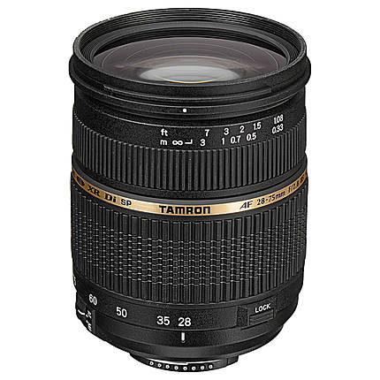 Tamron SP AF XR Di LD Macro 28-75mm f/2.8 Medium Zoom Lens for Nikon - Black