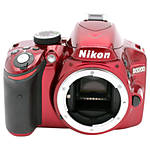 Used Nikon D3200 Body Only (Red) - Excellent