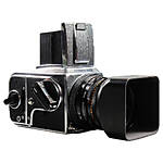 Used Hasselblad 500CM w/ 80mm CF T*, WLF.  and  A12 Film Back [F] - Good
