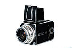 Used Hasselblad 500CM w/ 80mm CF T*, WLF.  and  A12 Film Back - Good
