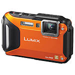 Used Panasonic DMC-TS5 Orange Tough Camera *No Charger* [P] - Good