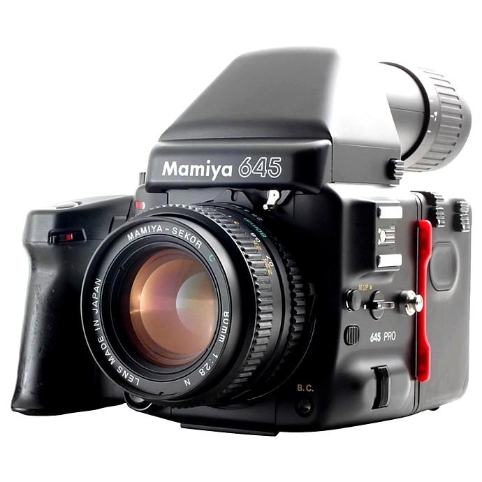 Used Mamiya 645 Pro TL W/ 80MM F/2 8, AE Finder, 120 Back, Grip - Good