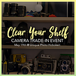 *FREE RSVP* Unique Photo Clear Your Shelf Camera Trade-in Event (Hoboken)