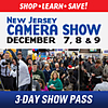 New Jersey Camera Show 3-Day Pass: December 7th, 8th, 9th
