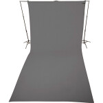 Westcott 9 x 20 Feet Neutral Gray, Wrinkle-Resistant Backdrop