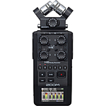Zoom H6 All Black 6-Input / 6-Track Portable Handy Recorder with Single Mic