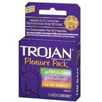 Trojan Condoms 3pk Pleasure Pack Assorted Varieties
