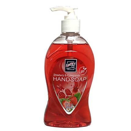Liquid Hand Soap 13.5oz Pump Clear Strawberry and Pomegranate Lucky Brand