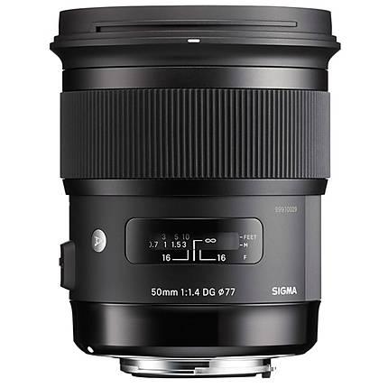 Sigma 50mm f/1.4 EX DG HSM Standard Lens for Nikon - Black