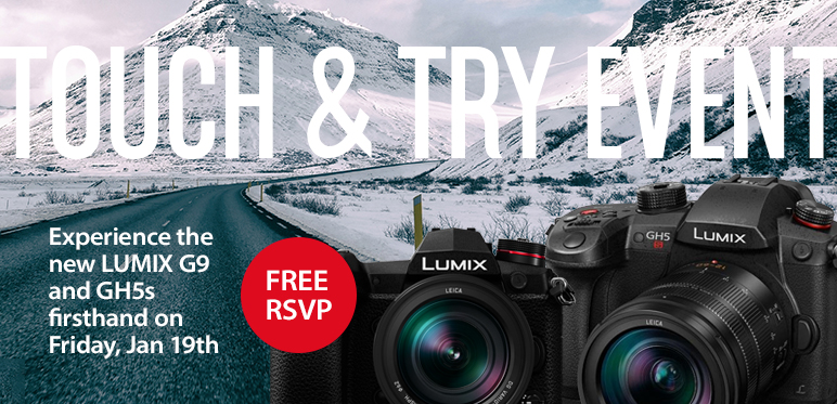 Panasonic Lumix G9 and GH5S Touch and Try Event